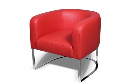 כורסא לסלון מעור אדום