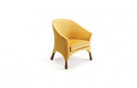 כורסא צהובה לסלון