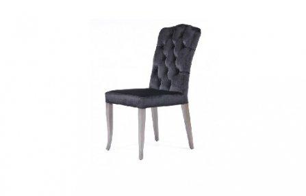 כסא מטבח מרופד שחור