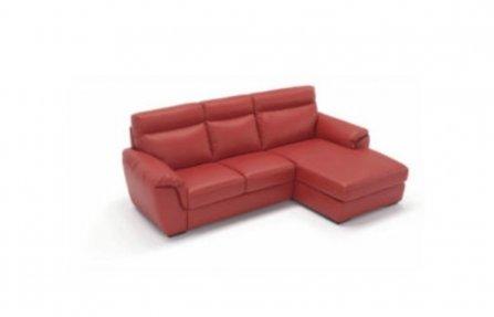 ספה אדומה מעור