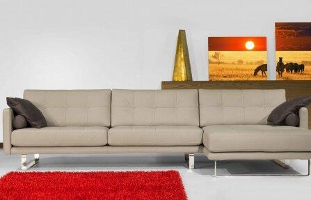 ספה לסלון מעוצבת