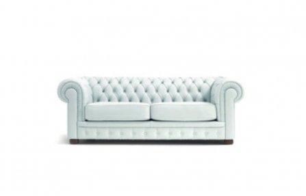 ספה מעור יוקרתית לבנה
