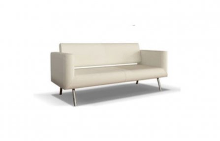 ספה מעור לבן איכותי