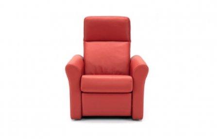 ספה מעור לסלון בצבע אדום