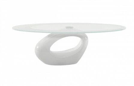 שולחן זכוכית לבן