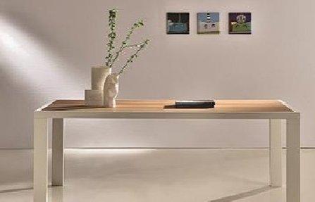 שולחן לבן לסלון