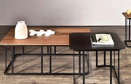 שולחן מעץ לסלון חום