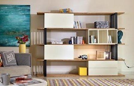 שידה איכותי לבנה חומה Arbor bookcase