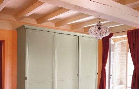 שידה מעץ דלתות גבוהה לבנה GEREMIA