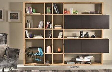 שידת עף חומה שחורה Ennea bookcase