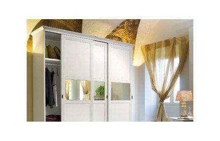 שידת עץ דלתות גבוהה לבנה KALISTO